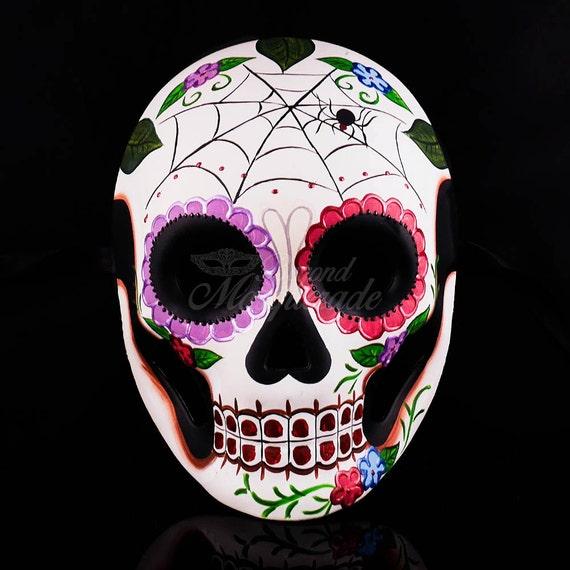 Giorno dei Morti Halloween Maschera Sugar Skull Festa Uomini Donne Costume