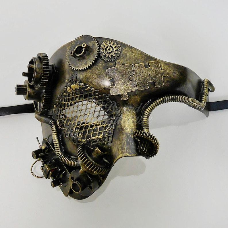Mens Masquerade Mask Steampunk Steampunk Masquerade Etsy