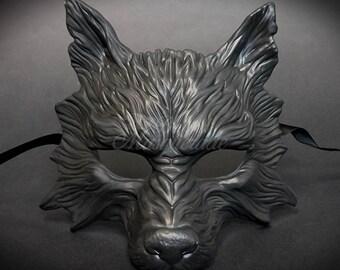 Black Wolf Mask Fox Masquerade Masks Costume Cosplay Halloween Haunted House Props Animal Masquerade Mask
