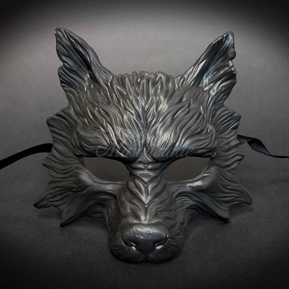 wolf halloween haunted house props animal masquerade mask etsy