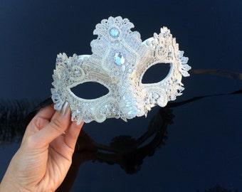 Masquerade Mask, Silver Lace Masquerade Mask, Masquerade Ball Masks, Mask, Mardi Gras Mask, Lace Mask,Masquerade Ball Mask