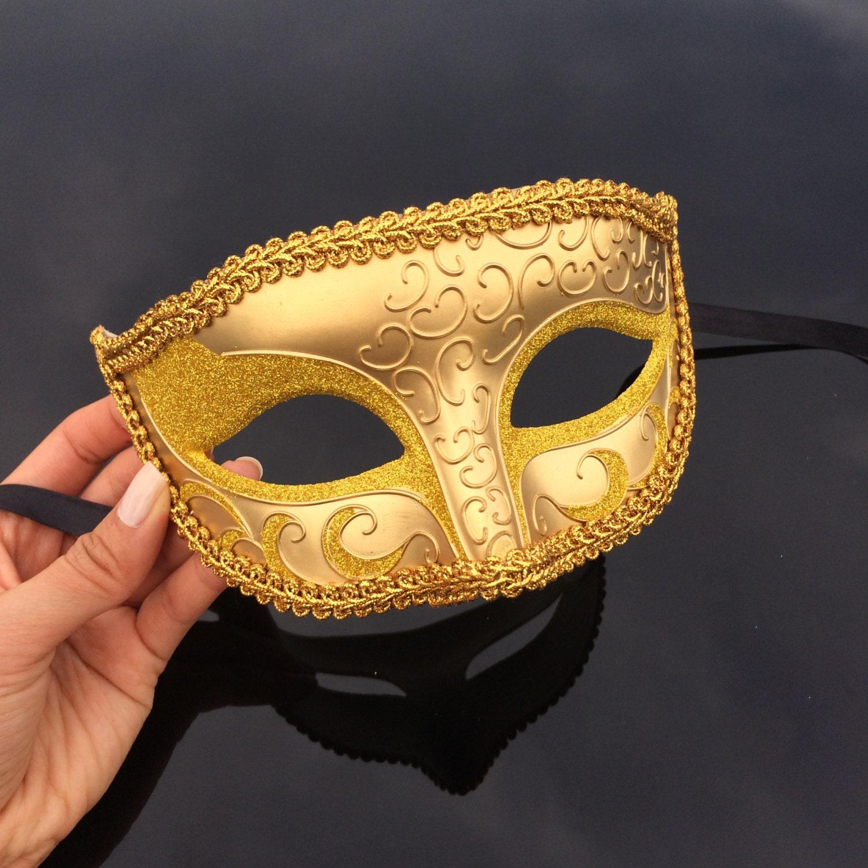 Mens Masquerade Mask Gold Masquerade Mask Roman God Mask | Etsy