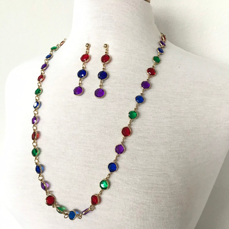 Colorful Necklace and earrings