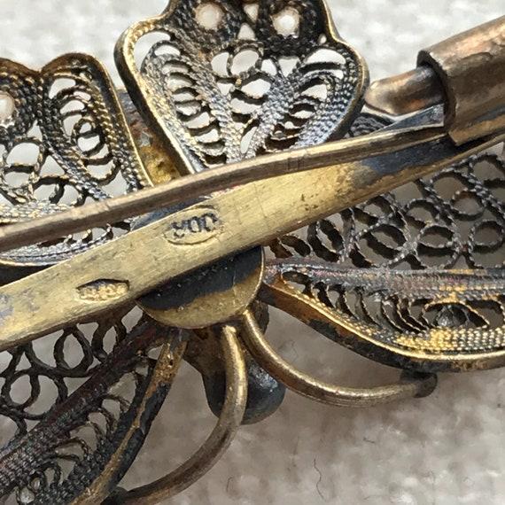 Art Nouveau Butterfly brooch - image 8