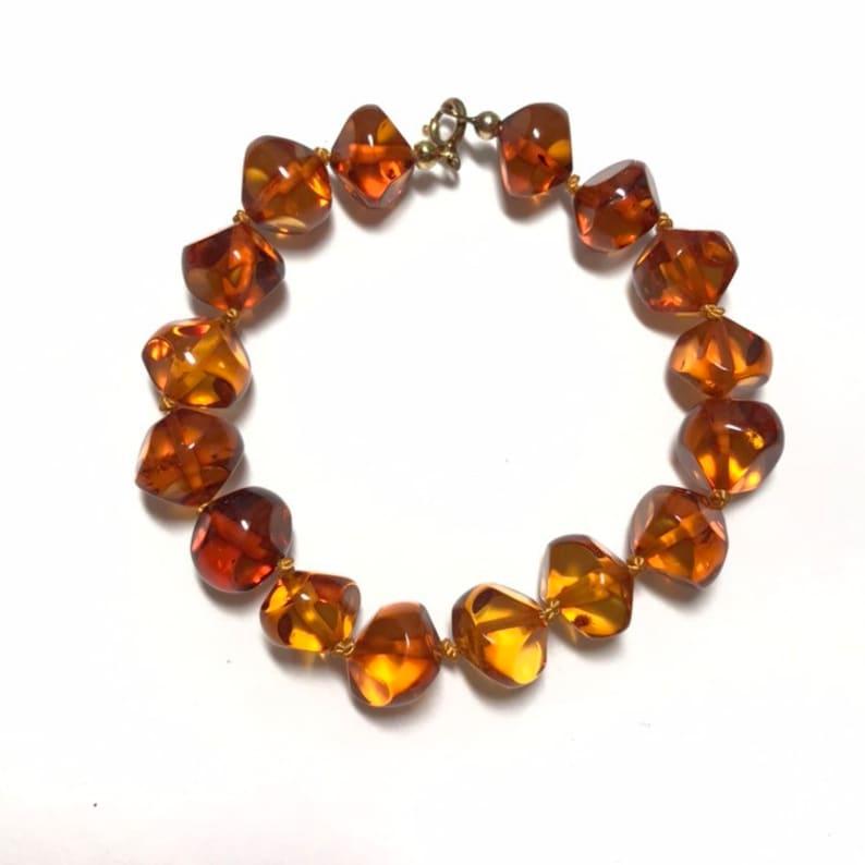 Amber lucite bracelet