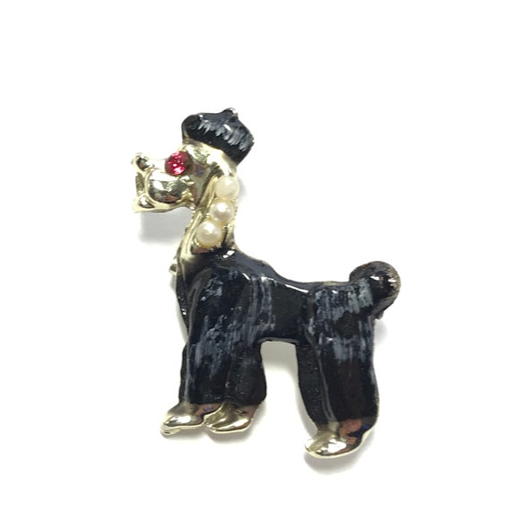Chinese poodle pin