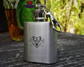 Tiny Keychain Flask - O'Kane Logo