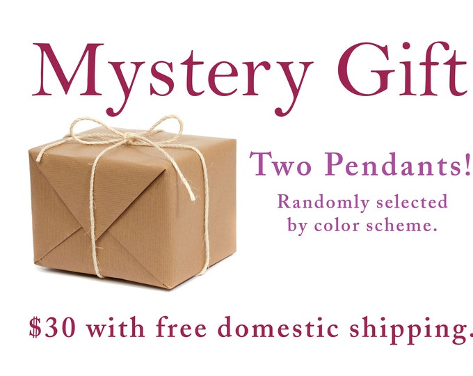 MYSTERY GIFT: Two pendants + two chains, choose by color!