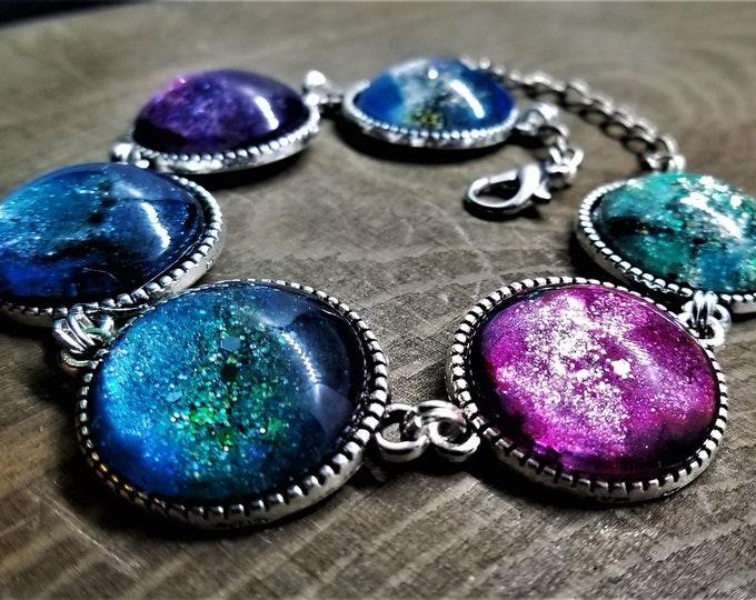 LIMITED EDITION: Mermaid Space Princess Cabochon Bracelet (Version 3)