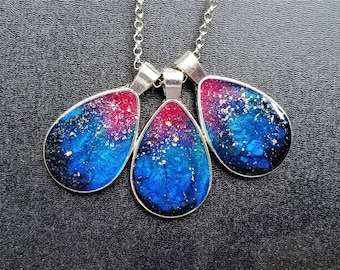 Solar Sunset (with Stardust) (Necklace or Keychain)