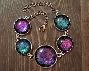 LIMITED EDITION: Mermaid Space Princess Cabochon Bracelet or Necklace (Version 4)