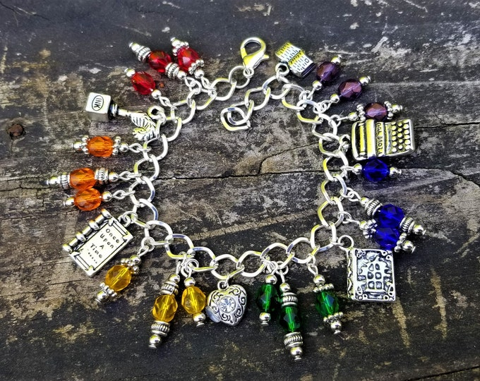 Custom Charm Bracelet: Choose your own colors & charms!