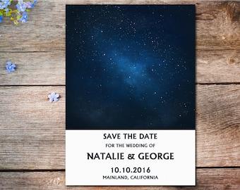 Starry Night Save The Date, Under The Stars Wedding Invitation, Galaxy Invitation, Night Sky Save The Date, Stars Invitation, Stars Wedding
