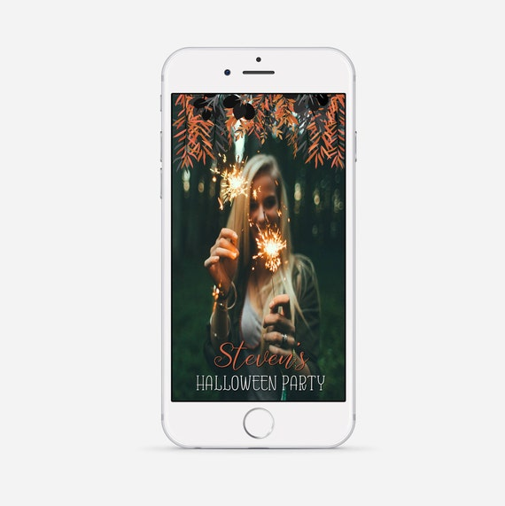 halloween party snapchat geofilter custom halloween filter | etsy