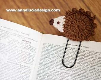 Crochet patterns, crochet hedgehog, handmade gifts, handmade bookmarks, crochet bookmarks, PDF Instant Download