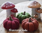 knitting rib pumpkin with 2 different stems, knitting pattern, pumpkin amigurumi, knitting PDF Instant Download