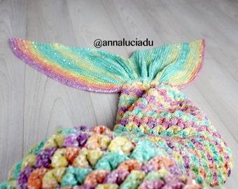 Crocodile mermaid blanket with opening back, crochet mermaid tail, crochet mermaid blanket, PDF Instant Download