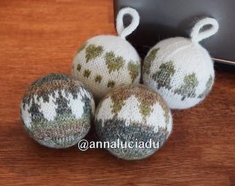 knitting christmas ball, Christmas Ornament knitting pattern, Knit Ornament balls, DIY Christmas Balls,  PDF PATTERN