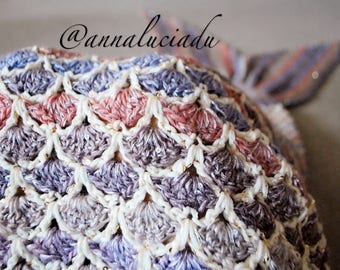 Crochet mermaid blanket with opening back, crochet mermaid tail, crochet mermaid blanket, net mermaid, PDF Instant Download