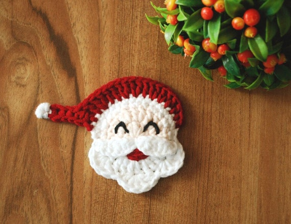Crochet Santa Clausecrochet Santa Claus Face Crochet Etsy