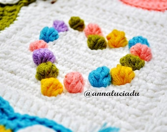 Owl Obsession ,  colorful owl blanket pattern,  crochet owl pattern,  crochet owl afghan pattern - Instant PDF Download