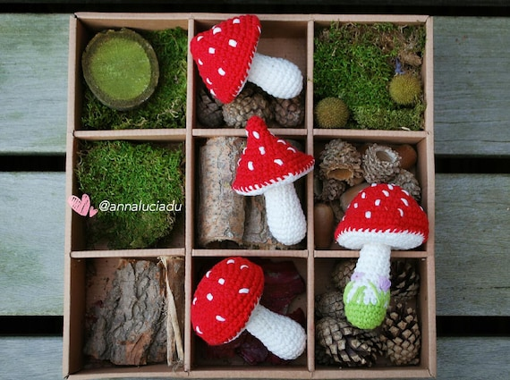 4 Different Sized Toadstool Pack Crochet Patterns Toadstool Etsy