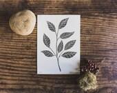 Mini Leaves Screen Print