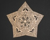 Medium Decorative Star Lino Print