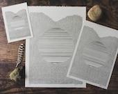 Bubble Screen Print Grey