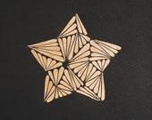 Small Decorative Star Lino Print
