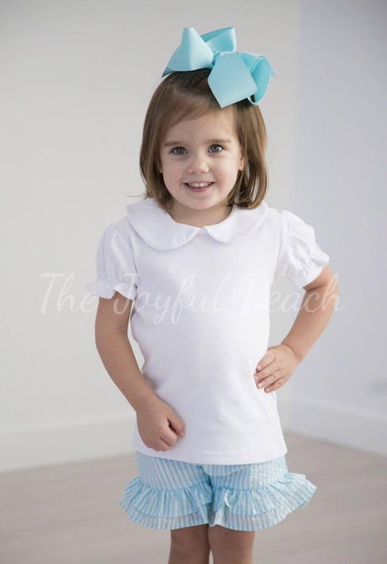 00cec7790ef3 Short Sleeve Peter Pan Collar Shirt | Etsy