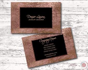 Glitter business etsy rose gold glitter business card sparkle calling card professional chic trendy digital modern printable colourmoves