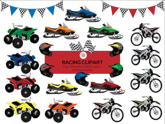 Racing Clipart Motorcycle Clipart Four Wheeler Atv Etsy