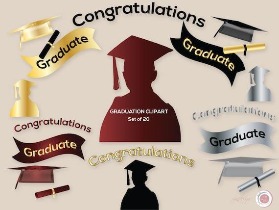 8 x Black /& Gold Graduation Party Invitations Cards Graduation Party Supplies