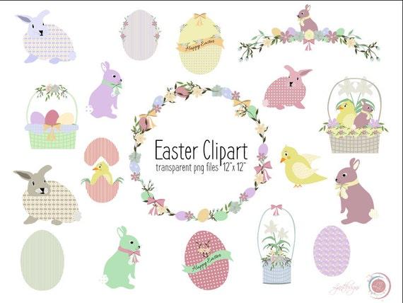 Easter Bunnies Clip Art Printable