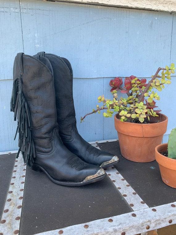 Vintage Fringe Cowboy Boots/ Vintage Code West Cow