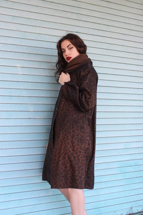 60s Leopard Print Raincoat/ Leopard Print Jacket/… - image 8