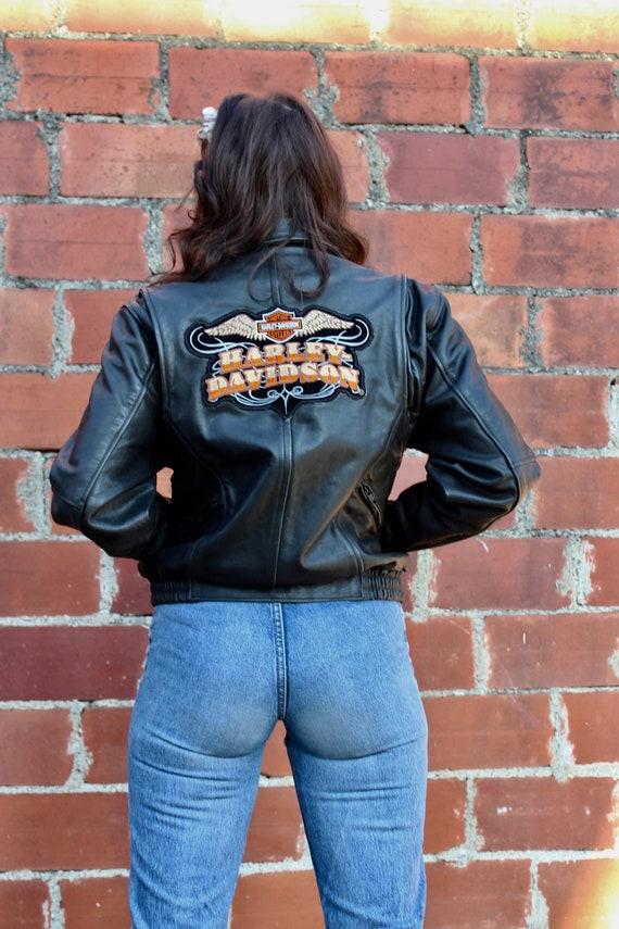 Vintage Harley Davidson Motorcycle Leather Jacket/