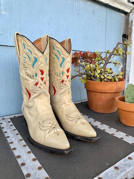 Vintage Eagle Cowboy Boots/ Vintage Inlay Cowboy B