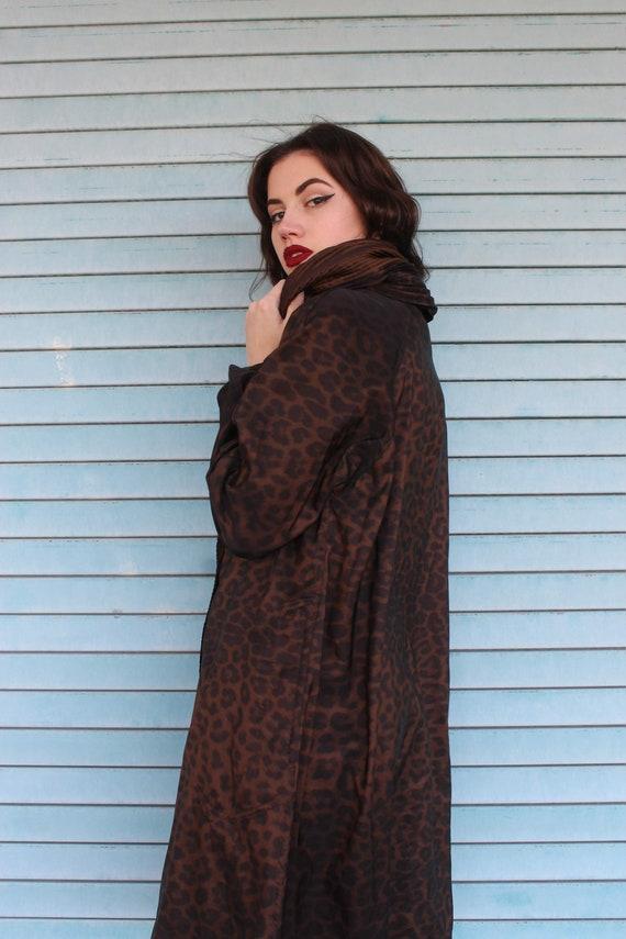 60s Leopard Print Raincoat/ Leopard Print Jacket/… - image 10