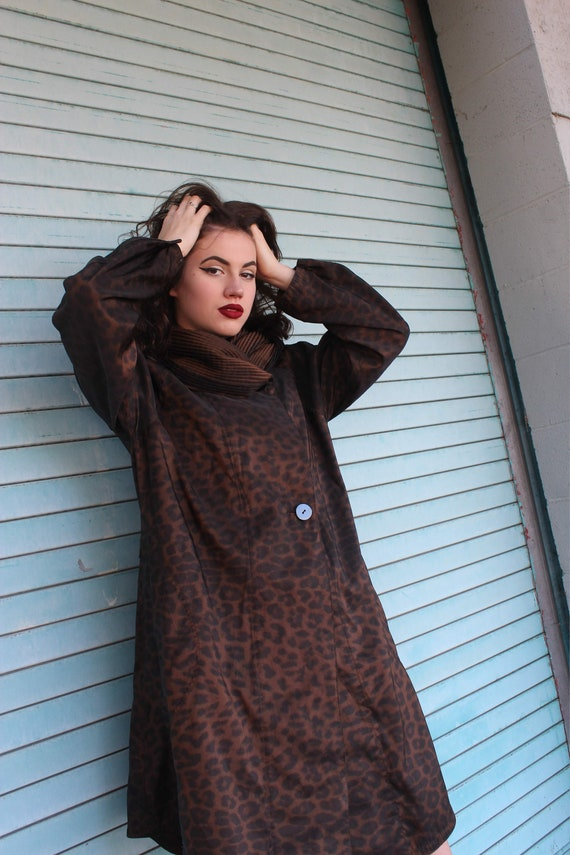 60s Leopard Print Raincoat/ Leopard Print Jacket/… - image 6