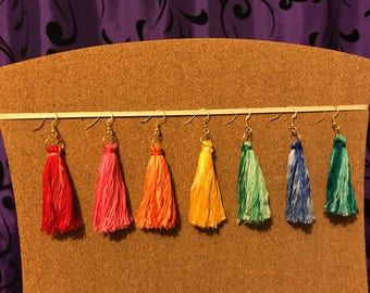 Ombre tassle earrings