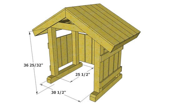 Outdoor Nativity Stable Plans, How To Build A Manger For Outdoors