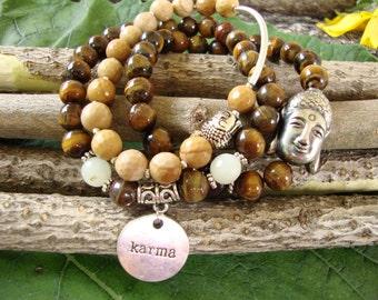 Boho stretch bracelets, yoga bracelets, stretchy beaded bracelets