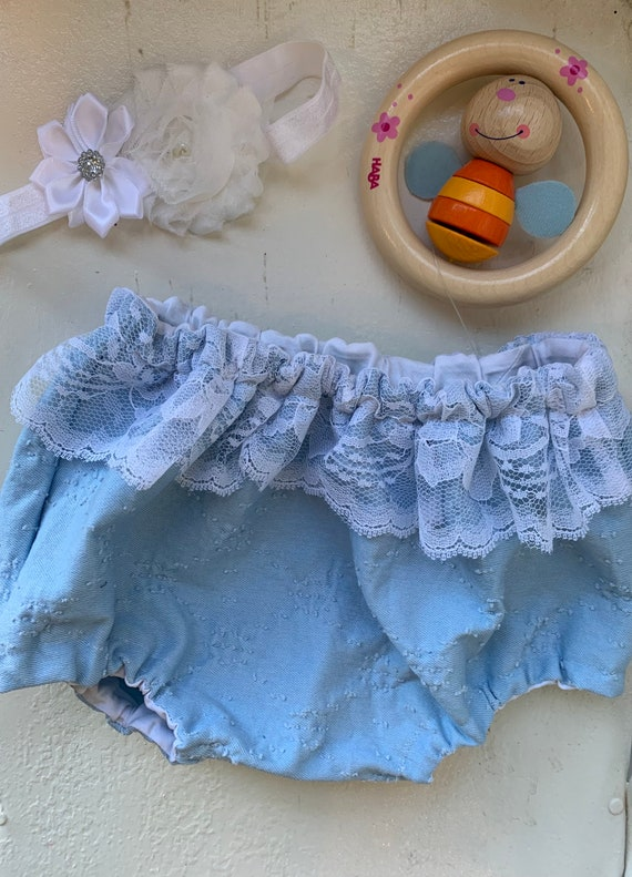 Denim and lace bloomers