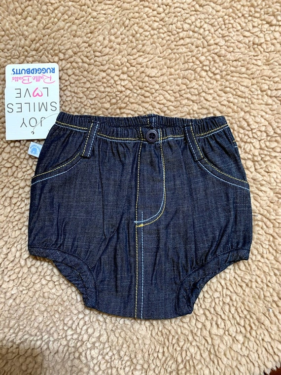 3-6 mo Denim Ruffle Butts bloomers for Dylan and Carissa
