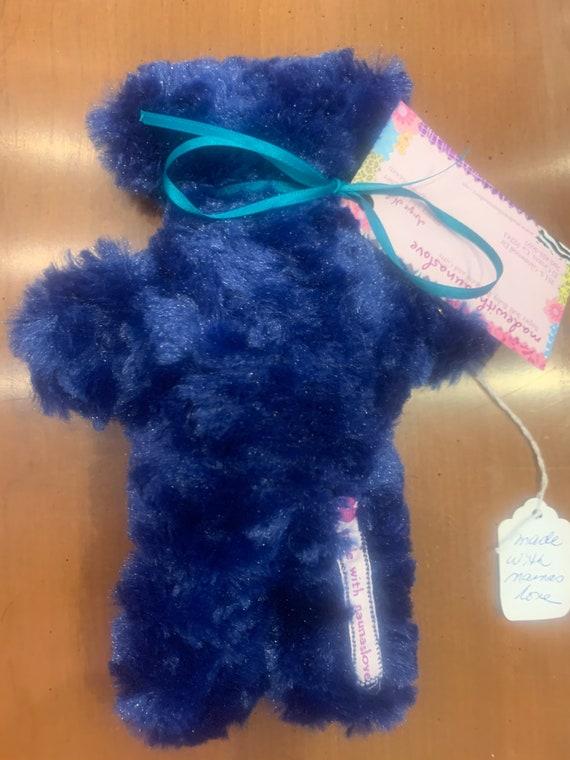 Royal blue lavender bear for Gabrielle and Tyler Hindman
