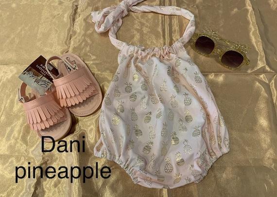 Dani Pineapple bubble romper