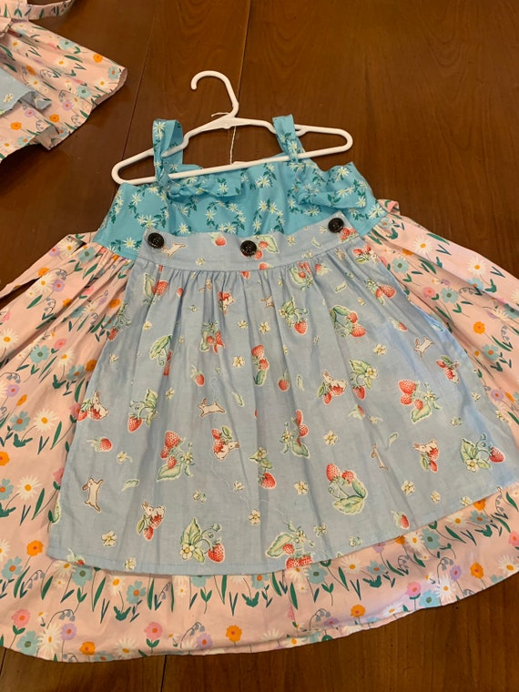 Lottie Mae Knot full skirt Bunny Floral dress