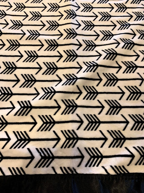 30 x 35 black and white arrow minky blanket for Dylan and Carissa